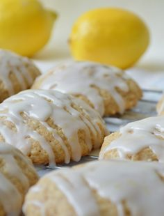 These Iced Lemon Cookies are so light and fluffy - a slightly sweet cookie with the perfect tart glaze!! | twintough.com #cookie #lemon #greekyogurt