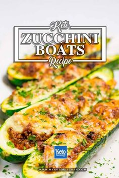 A Delicious Keto Zucchini Boats Recipe. Full of flavor and very low-carb dinner recipe, or perhaps you can learn how to make it for lunch, it's a very versatile recipe that you can bake with a variety of leftover ingredients. Low Carb Recipes, Diet Recipes, Cooking Recipes, Healthy Recipes, Top Recipes, Simple Recipes, Recipes Dinner, Lunch Recipes, Summer Recipes
