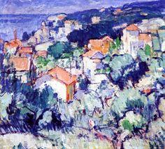 The Athenaeum - Landscape, South of France (Samuel John Peploe - )