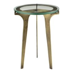 Antique Brass Modern Glass Top Side Table | Clear Home Design Glass Top Side Table, Side Coffee Table, Art Deco Living Room, Moe's Home Collection, Modern Furniture Stores, Modern Glass, Home Collections, The Fresh, End Tables