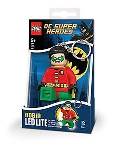 LEGO DC Universe Robin Figure LED Light Legs Key Chain, New, Free Shipping