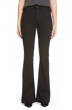 AG+'Janis'+Flare+Jeans+(Super+Black)+available+at+#Nordstrom
