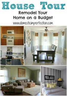 Tons of budget friendly decor ideas and before and after photos!