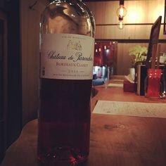 ちょっと良いロゼワインは フランスボルドー . 綺麗なルビー色で 苺の果肉にかぶりついたときのようにジュワッと果実味が広がります . #東中野 #リエーブル #lievre #立ち飲みワインバー #立ち飲みワイン #立ち飲み #ワインバー #ワイン ##赤ワイン #白ワイン #ロゼワイン #ロゼ #グラスワイン