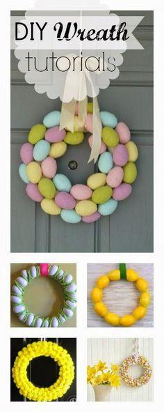 Spring Wreaths DIY Style, paper mach easter egg wreath YAY!