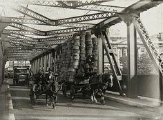 """furtho:  Traffic from Covent Garden Market crosses Waterloo Bridge, c. 1924(via The Bridges of Old London | Spitalfields Life)  """