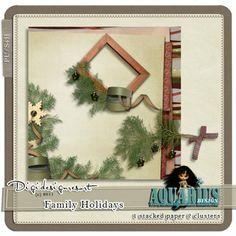Family Holidays freebie | Aquarius Scrapability