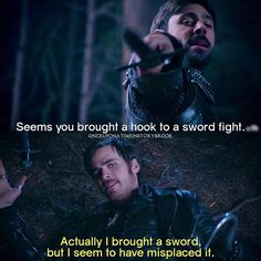 Literally hook was on the verge of death this entire episode. But then again not really cause he's immortal now. So we don't have to worry about hook dying...for now.