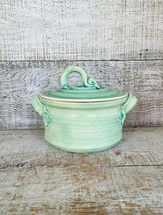 Vintage Jar Handmade Pottery Lidded Jar VIntage Lidded Container  Vintage Lidded Vessel Ceramic Small Canister Wheel Thrown Pottery