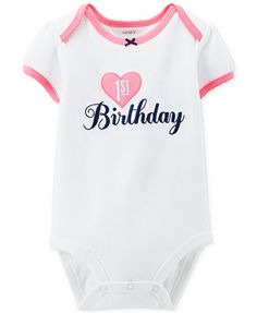 Carter's Baby Girls' 1st Birthday Bodysuit