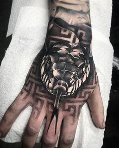 Hand Tattoos for Guys Ideas Design Hand Tattoos For Guys, Hand Tats, Finger Tattoos, Tattoos For Women, Mens Hand Tattoos, Dope Tattoos, New Tattoos, Body Art Tattoos, Sleeve Tattoos