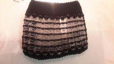 Pop tabs purse on crochet