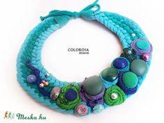 A tenger. Textil nyaklánc (colorosa) - Meska.hu
