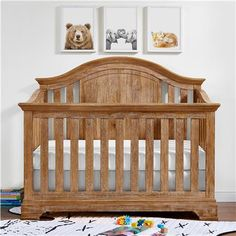 The Baby Relax Macy 4-in-1 Convertible Crib with a natural rustic finish features classic lines with elegant accents! This crib gives a nod to tradition with updated styling from classic architecture.