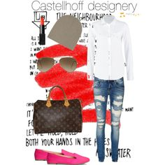 A fashion look from March 2015 featuring white blouse, zip jeans and rubber sole shoes. Browse and shop related looks. Thing 1, Shoe Bag, Stuff To Buy, Shopping, Shoes, Collection, Design, Women, Fashion