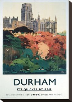 Durham Trees and Cathedral Travel Poster