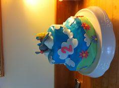 Girls airplane themed Birthday cake