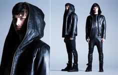 Leather Hoodie from the LaMarque Fall/Winter 2014 Men's Collection #leather #menswear #lamarquecollection #fw14