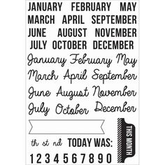 "Captured Moments Clear Stamps 6.25""X4""-Months, Kaisercraft,Part CS157 Kaisercraft CS157. Captured Moments Clear Stamps 6.25""X4"". KAISERCRAFT-Captured Moment Clear Stamps: Months. Clear stamps are an easy way to add inked images to paper crafting projects. 