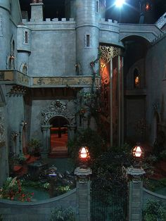 Silent film star Colleen Moore's Fairy Castle...this is the garden at night... the Castle is on display at Chicago's Museum of Science and Industry
