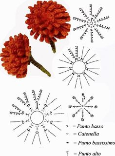 Crochet Flower - Chart    http://intrecciincantati.blogspot.it/search/label/Fiori%20all%27Uncinetto%20%28Schemi%29