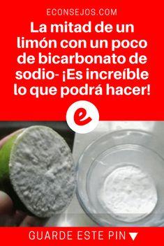 Bicarbonato y limon | La mitad de un limón con un poco de bicarbonato de sodio- ¡Es increíble lo que podrá hacer! | ¿Sabe lo que esta mezcla puede hacer? ¡Es sorprendente! Lea y sepa más sobre esto.