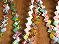 michele made me: Series 4 - The Candy Wrapper Chain #3...Great old craft that you can make even with old phone book pages!..Great step by step tutorial and pictures! Thanks for the memory!