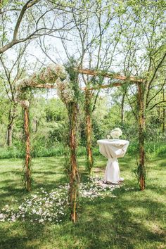 #chuppah  Photography: Woodnote Photography - woodnotephotography.com  Read More: http://www.stylemepretty.com/2013/08/29/wisconsin-wedding-from-woodnote-photography-2/