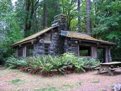Picnic shelter built by the CCC in the 30's ~Twanoh State Park WA