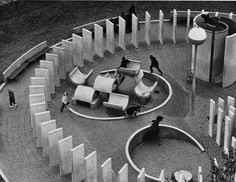 Cypress Hills Playground_Charles Forberg Notable for being one of the playgrounds driven by MoMA's advocacy for better design in play, overlapping art and play.