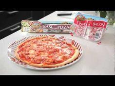 Vídeo receta - Pizza de bacon y frankfurt