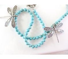 Dancing dragonflies necklace, $20.0