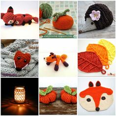 1. Mother and Baby Fox by Allison Hoffman 2. Pumpkin Beanbag by Ellen 3. Hedgehog by Angeline 4....