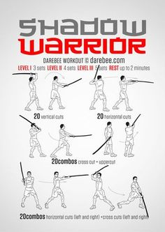 Shadow Warrior Workout Best Picture For Martial Arts Workout training For Your Taste You are looking Kung Fu Martial Arts, Self Defense Martial Arts, Martial Arts Workout, Martial Arts Training, Mma Workout, Warrior Workout, Katana, Assassins Workout, Superhero Workout
