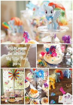 my little pony party http://retromummy.com/2015/04/16/how-to-create-the-ultimate-my-little-pony-party/