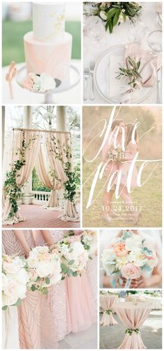 Soft greenery and blush wedding inspiration with save-the-dates from @shutterfly #Shutterfly #ShutterflyWeddings