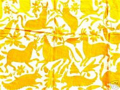 otomi print-mexican fabric art