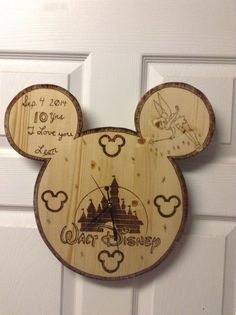 Disney Mickey Mouse Wooden Clock!