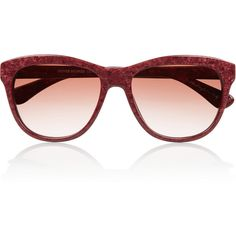 Oliver Peoples Reigh D-frame glitter-finished acetate sunglasses ($103) ❤ liked on Polyvore featuring accessories, eyewear, sunglasses, burgundy, gradient lens sunglasses, uv protection glasses, glitter sunglasses, antique glasses and glitter glasses