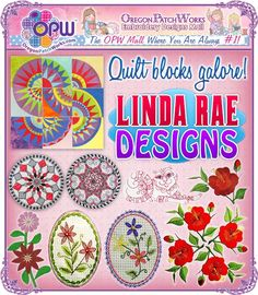 Quilt blocks galore and more from Linda Rae Designs!