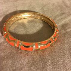 I just added this to my closet on Poshmark: Orange & Gold Bangle with Small Diamonds.  Size: OS