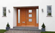Contemporary Sidelight (NEW) Cedar Cladding House, Garage Doors, Front Doors, External Doors, Oak Doors, Front Entrances, White Oak, Colours, Contemporary