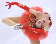 優勝したザギトワのフリーの演技=江陵アイスアリーナで2018年2月23日、佐々木順一撮影