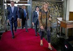 On August 30, 2016, Queen Maxima of The Netherlands arrives at the airport of…