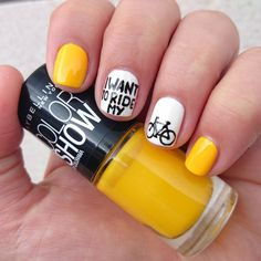 Dahlia Nails: I Want To Ride My Bicycle - Tour de France