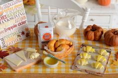 Miniature Croissants Baking Set by CuteinMiniature on Etsy: