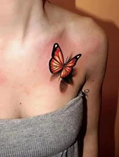 If you're looking for 3d, tiny, large, geometric, dreamy, delicate tattoo ideas in black ink or color, let these butterfly designs inspire your next piece of body art. Traditional Butterfly Tattoo, Colorful Butterfly Tattoo, Butterfly Tattoo Cover Up, Butterfly Tattoo Meaning, Butterfly Tattoos For Women, Cute Tattoos For Women, Butterfly Tattoo Designs, Small Tattoo Designs, Tattoo Designs For Women