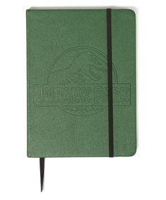 Jot down notes or document your dinosaur findings in classic Jurassic Park style with this embossed faux leather journal. W x H x DFaux leather / paperImported Jurassic World, Jurassic Park, Green Park, Leather Journal, Innovation Design, Gifts, Notes, Gift Registry