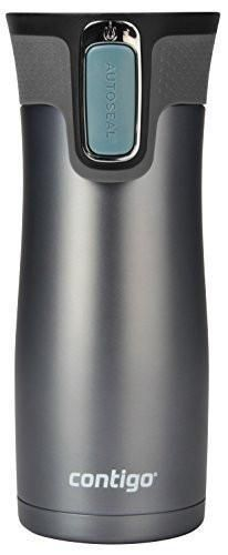 Vacuum Insulated Stainless Steel Travel Mug with Easy-Clean Lid, 16oz, Black