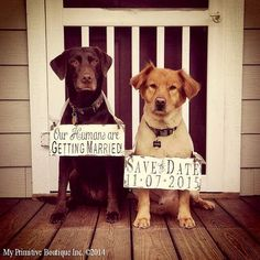 SAVE the DATE Signs for the DOGS Our von MyPrimitiveBoutique
